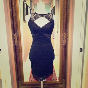 Brand New Guess Black Lace Dress